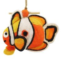 DZI Handmade Designs Clown Fish Felt Birdhouse