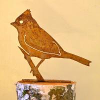Elegant Garden Design Titmouse Bird Silhouette