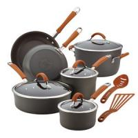 Rachael Ray 12-Pc Cucina Hard Anodized Cookware Set (Pumpkin)