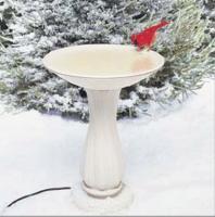 Birds Choice API Heated Birdbath with Pedestal