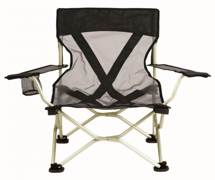 Travel Chair French Cut Chair, Black