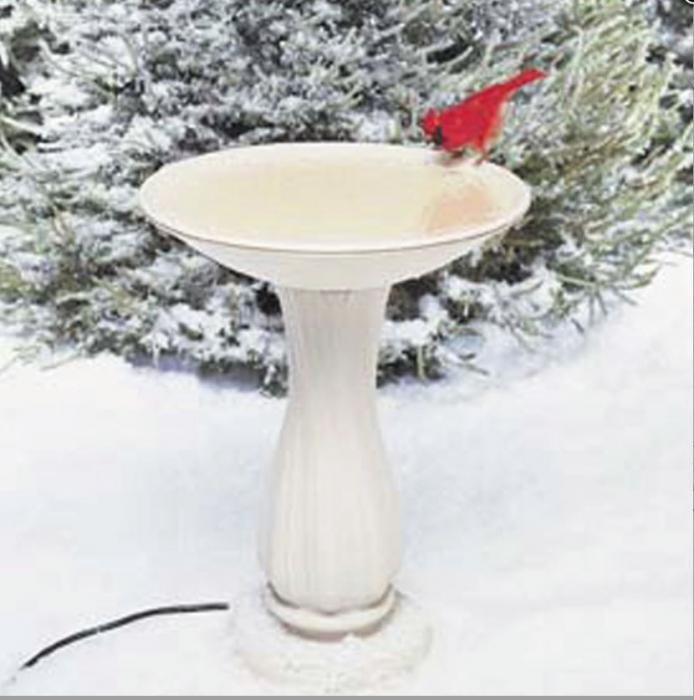 "Birds Choice Heated 20"" Heated Birdbath w/Pedestal"