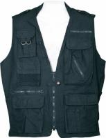 Humvee Safari Vest - Black, Small