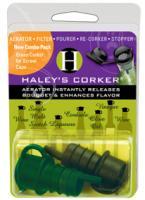 Haley's Corker Original Combo 1 Black Corker plus 1 Green Screwcap Clamshell