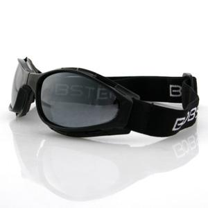 Bobster Action Eyewear Crossfire Small Folding Goggles with Black Frame and Smoke Lenses