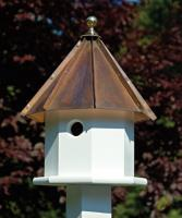 Heartwood Oct-Avian Birdhouse, Brown Patina Roof