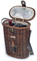 Picnic & Beyond The Enhanced Vineyard Collection - A 2-Bottle Willow Cooler Wine Basket