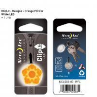 NITE IZE ClipLit Designs - Orange Wild Flower