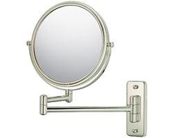 "Kimball & Young Double Arm Non-Lighted Wall Mirror - 7 3/4"", Brushed Nickel"