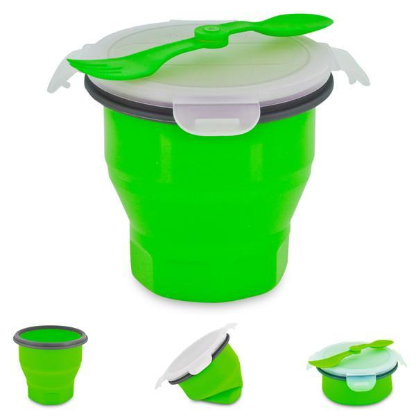Smart Planet Green Collapsible Soup And Salad Bowl