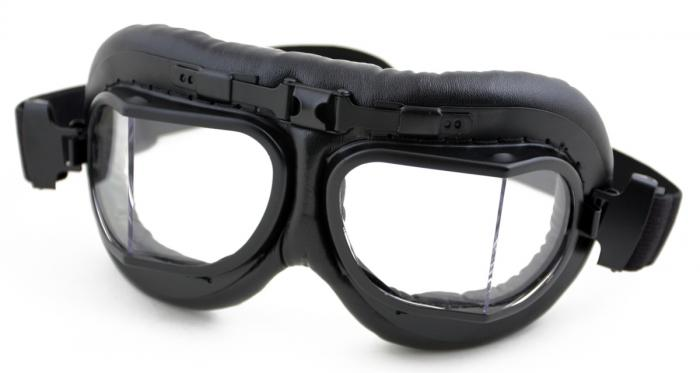 HUMVEE HMV-GGL-RAF-B UV 400 Protection Motorcycle Goggle with Adjustable Head Straps, Black