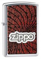 Zippo Spiral Red/Black High Polish Chrome