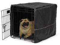 Mid-West Quiet Time Black Pet Crate Cover, 24""