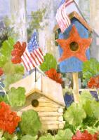 Toland Star-Spangled Birdhouse Garden