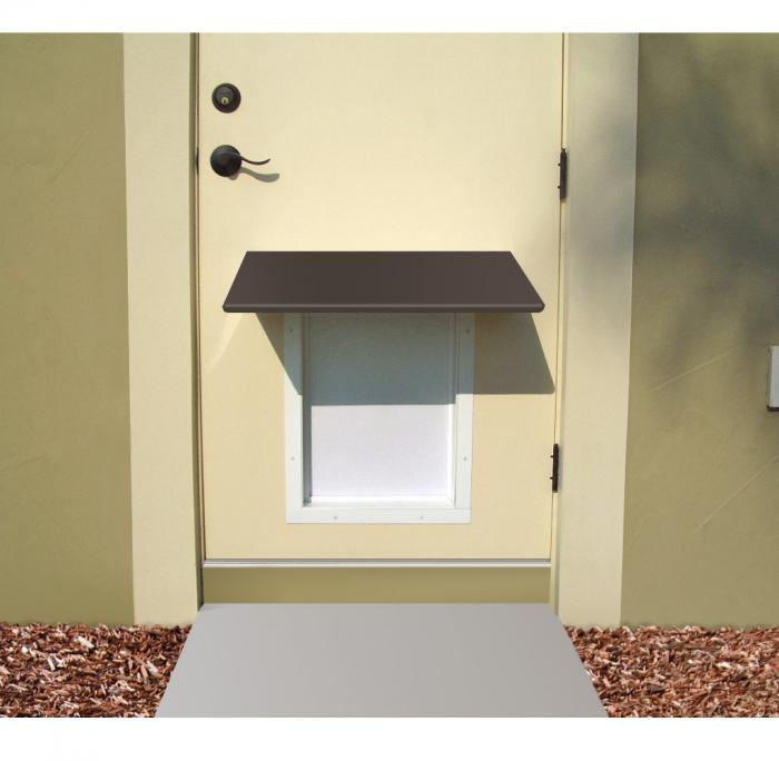 PlexiDor Small Pet Door Awning, Bronze