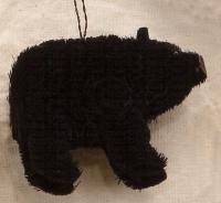 Brushart Bear Black Ornament