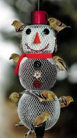 No-No Feeder Solar Snowwoman Mesh Bird Feeder