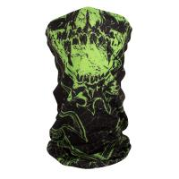 ZANheadgear Fleece Lined Motley Tube -Torn Skull