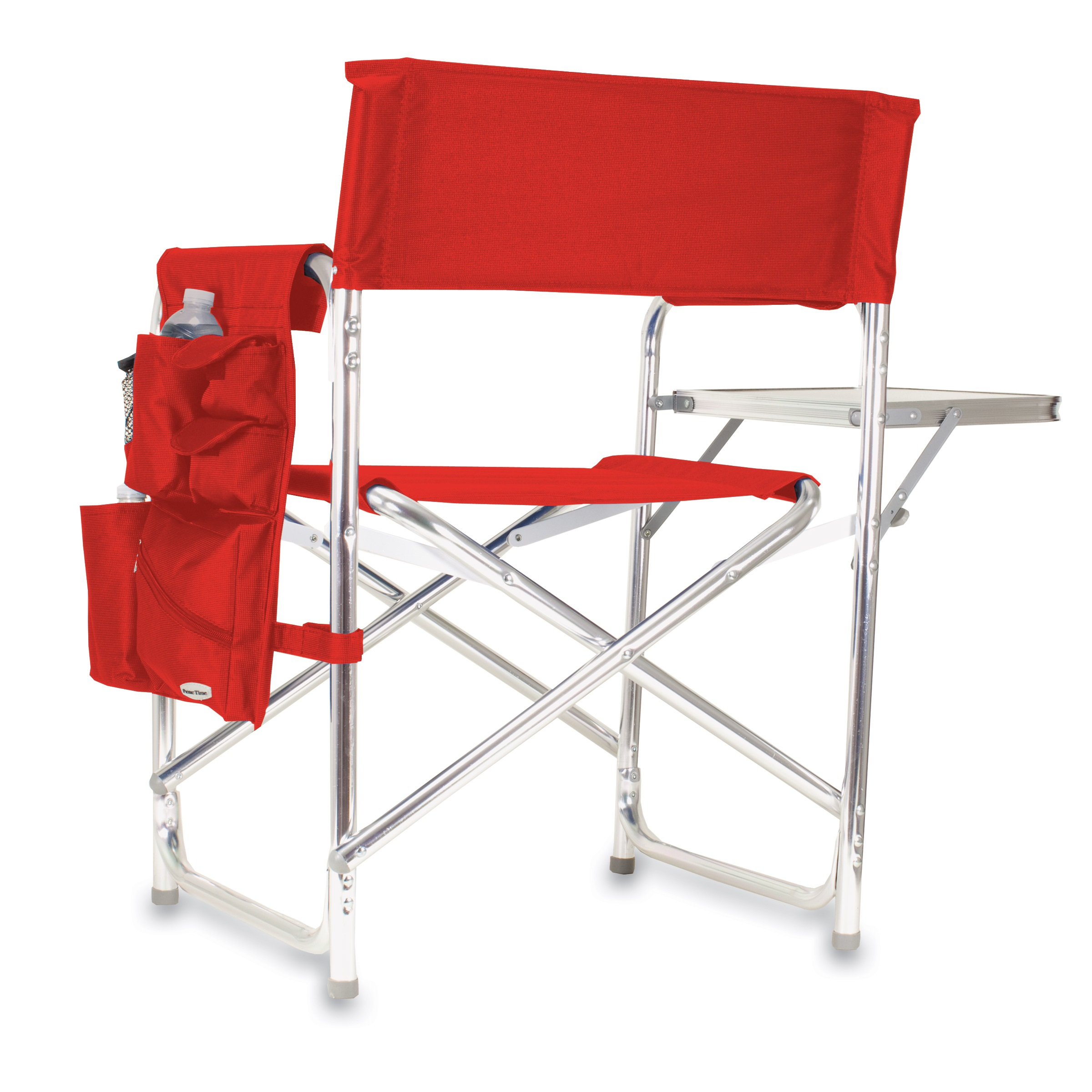 picnic time red portable folding sports camping chair. Black Bedroom Furniture Sets. Home Design Ideas
