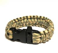 JB Outman Survival Bracelet With Whistle - Light Green