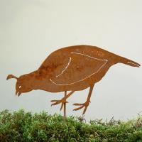 Elegant Garden Design CA Quail Female Stake Bird Silhouette