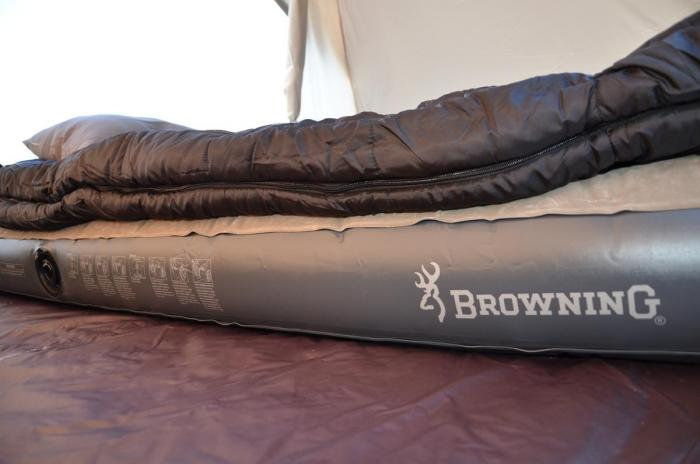 Browning Rechargeable Air Bed Queen Khaki Coal