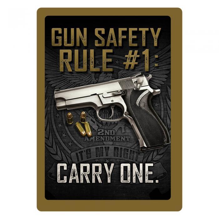 Gun Safety #1 Tin Sign