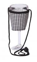 Picnic Plus Wine Glass Lanyard (Set of 2) - Houndstooth