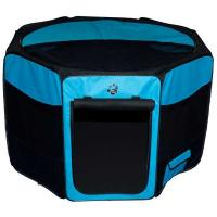 "Pet Gear Travel Lite Soft-Sided Pet Pen with Removable Top Ocean Blue 36"" x 36"" x 23"""