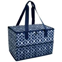 Picnic at Ascot Collapsible Storage Container/Organizer for Home and Trunk - Trellis Blue