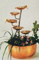 Unique Art Five Leaf Copper Fountain