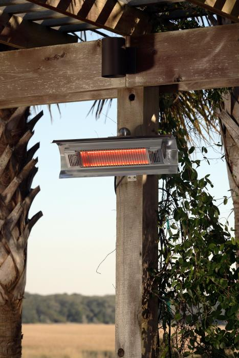 Fire Sense Patented 1500 Watt Stainless Steel Wall Mounted Infrared Patio Heater