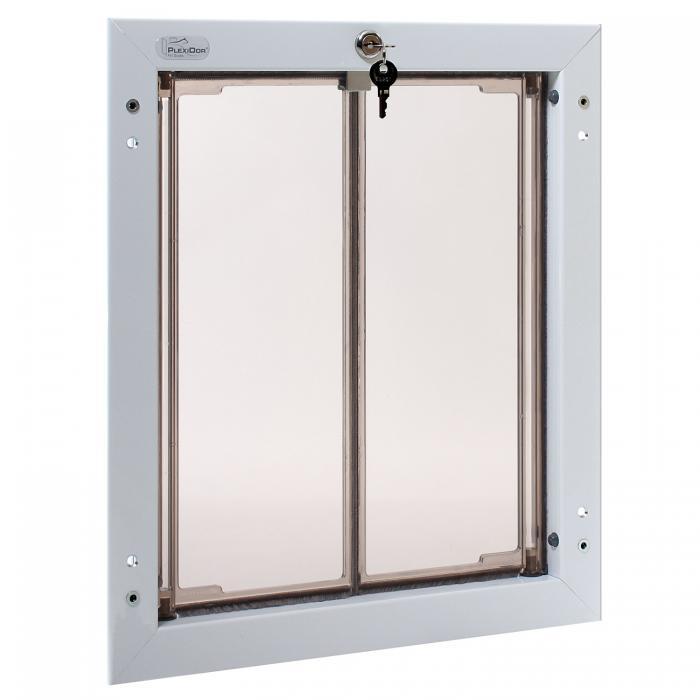 PlexiDor Large Exterior Door Application Performance Pet Door, White
