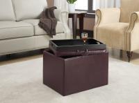 Designs2Go Accent Storage Ottoman (Purple)