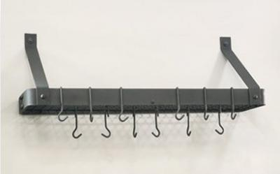 Old Dutch 36.2 x 9 x 12 Graphite Bookshelf Rack with Grid and 12 Hooks