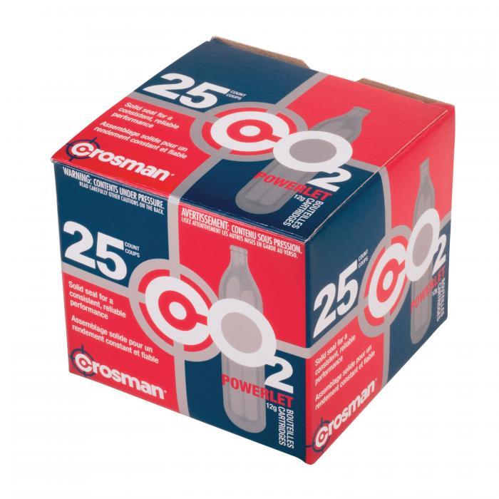 Powerlet 12gram CO2 Cartridge /25
