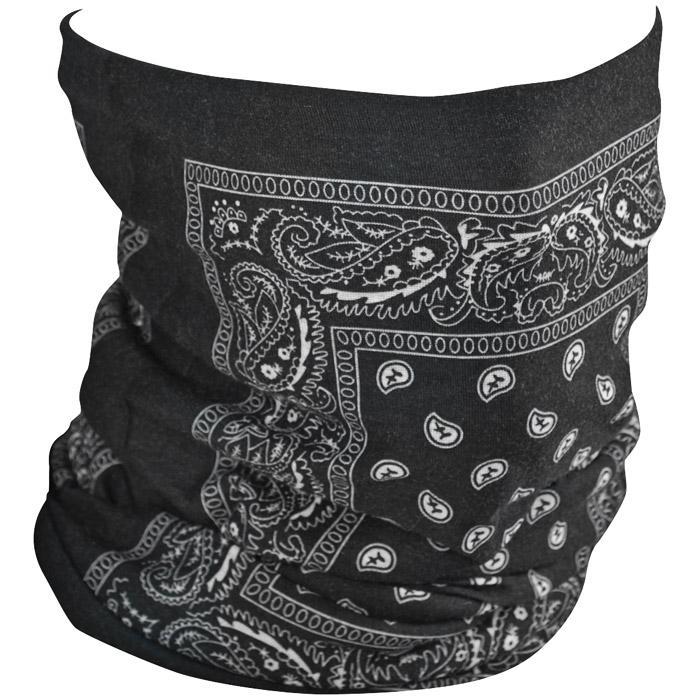 Zan Headgear Motley Fleece Tube - Black Paisley