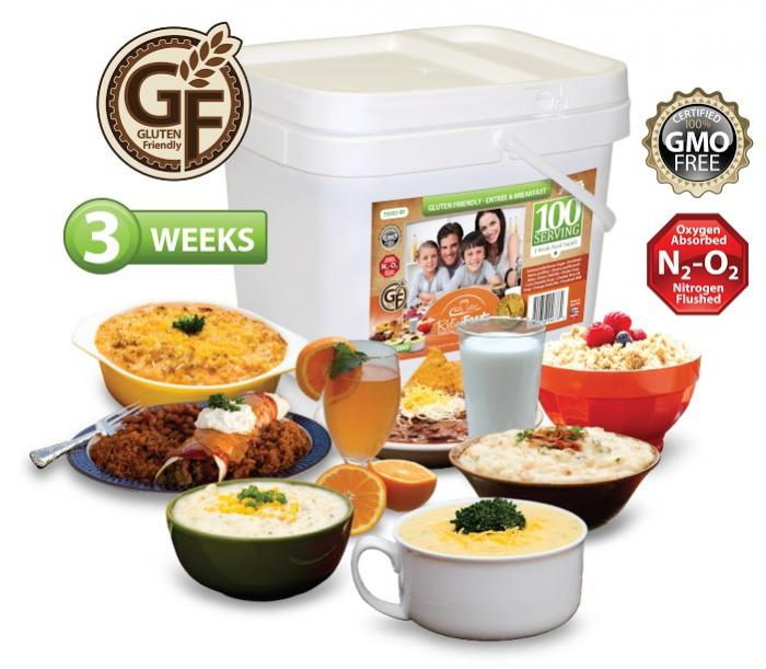 Relief Foods 3-Week Gluten Friendly Emergency Food Supply ...