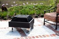Fire Sense HotSpot Square Fire Pit, Steel Fire Box