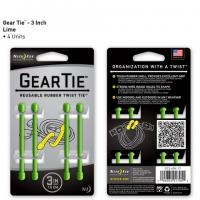"Nite-ize Gear Tie 3"" 4 Pack - Lime"
