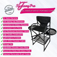 Tuscany Pro Tall Makeup Artist Portable Chair - Seat Height 29""