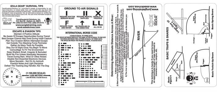 ESEE Survival Card Set