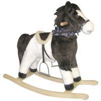 """Charm """"Tango"""" Plush Rocking Pinto Horse"""