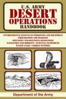 ProForce U.S. Army Desert Operations Hand Book