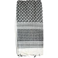 Shemagh Head Wrap, White/Black