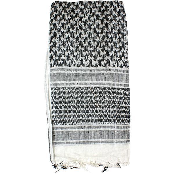 Shemagh Head Wrap, White/Black