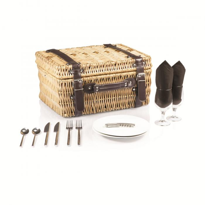 Picnic Time Champion-Black Picnic Basket for 2