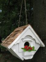 Little Wren Hanging Birdhouse, White