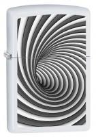 Spiral, White Matte Zippo Lighter