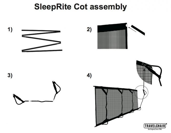 Travel Chair Sleeprite Cot
